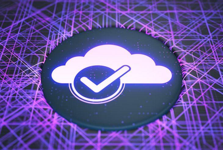 Backup in cloud illustration