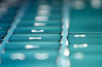 Keyboard close-up blue